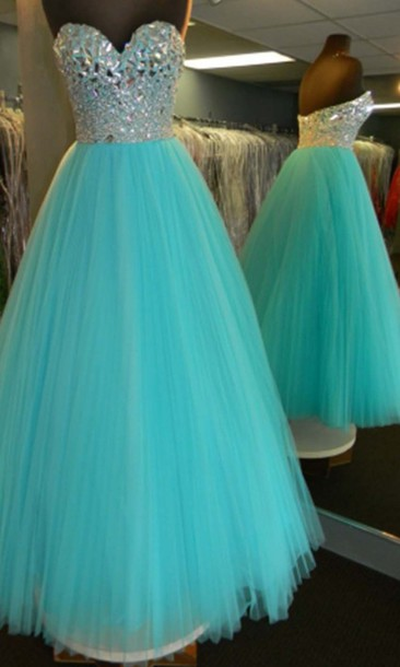 dress bodice dress ball gown dress long prom dress princess dress sweet 16 dresses teal prom dress rhinestone homecoming dress tulle dress sweetheart dress