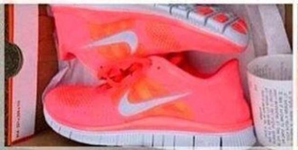 da3507e4c6 ... norway shoes nike orange white pink fashion running nike running shoes  nike free run wheretoget 93bda