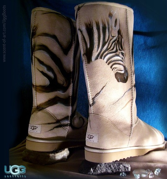 zebra shoes boots