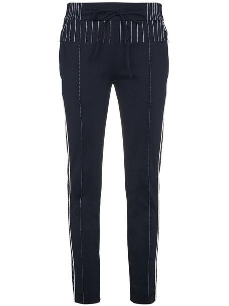 Valentino pants track pants women spandex blue
