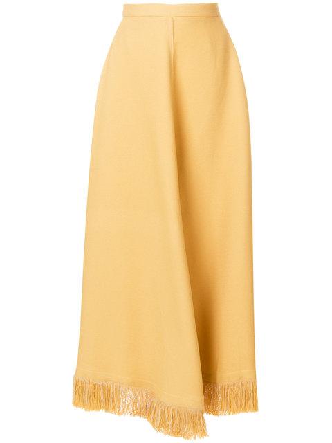 Nina Ricci Fringed Hem Skirt - Farfetch