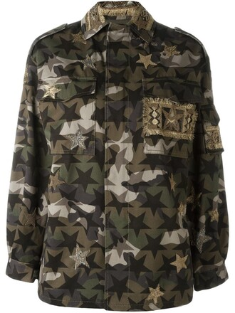 jacket camouflage green