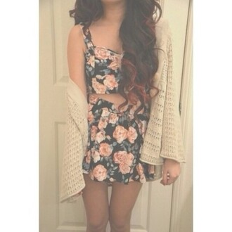 dress floral floral skirt floral top floral crop top crop top skirt pink flowers black