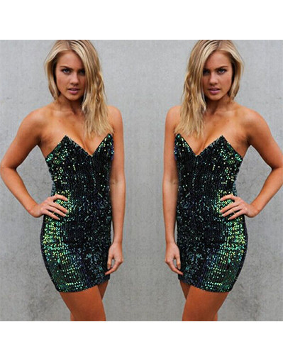 Sequined glitter shiny green velvet dress dresses evening party