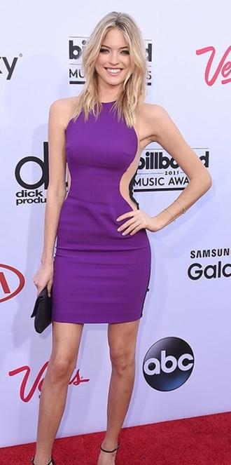 dress purple dress fashion