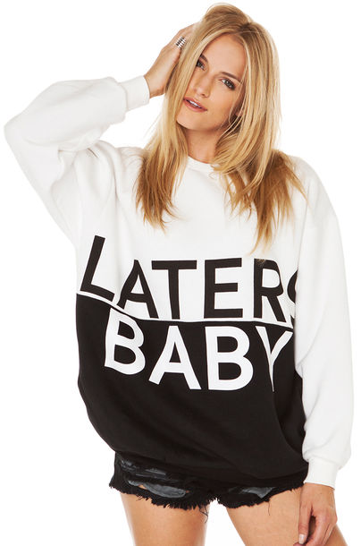 sweater laters baby fifty shades of grey sweatshirt jacket