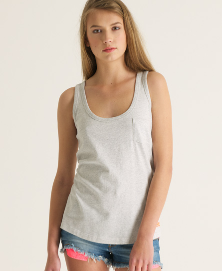 Superdry Embroidered Pocket Tank - Women's Tops