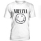Nirvana smile black logo t-shirt - teenamycs