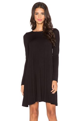 dress swing dress long black