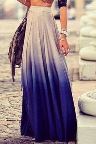Stylish women's ombre skirt