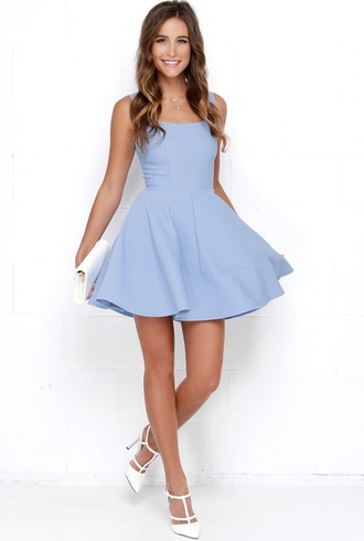 dress baby blue light blue cotton