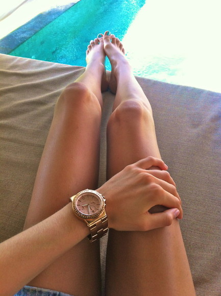 jewels rose gold watch pretty summer tumblr jewlery