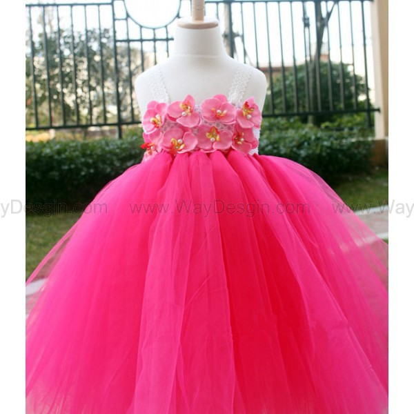Hot Pink Toddler Flower Girl Dresses 102