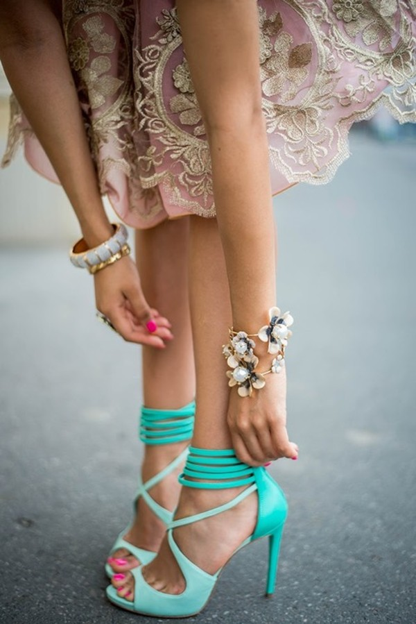 high heel sandals blue sandals aqua shoes shoes teal high heels mint strappy sandals mint green shoes high heels cute high heels aqua ankle sandals