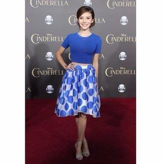 skirt blue skirt cinderella polka dots outfit