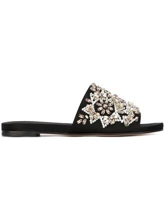 embellished sandals black shoes