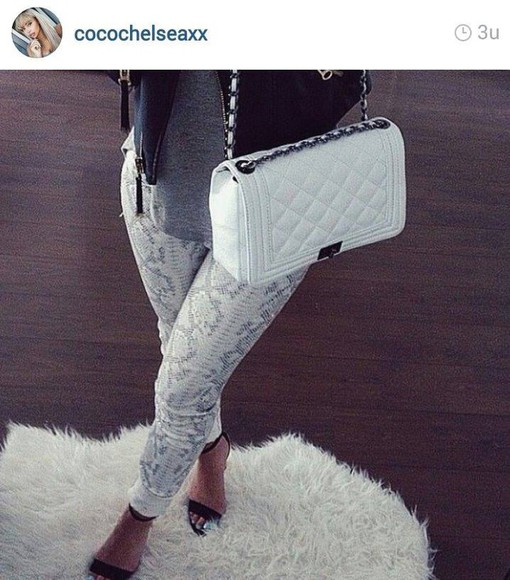 fur jeans snake print fall outfits snakeprint snakeskin pants pants instagram or nah?