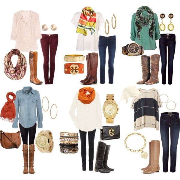 jeans scarf boots jewelry blouse jewels shirt sweater fall outfits