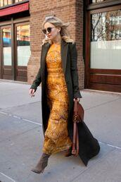 dress,maxi dress,orange,orange dress,kate hudson,coat
