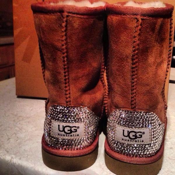 shoes ugg boots swarovski glitter