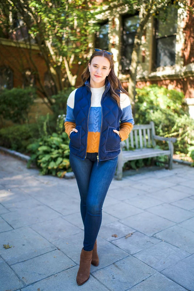 covering bases curvy blogger sweater jeans jacket sunglasses vest fall outfits ankle boots