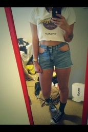 shorts,High waisted shorts,ripped,shredded,cut,levi's,cute,blue