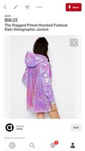 jacket,holographic,holographic jacket,raincoat,purple,windbreaker