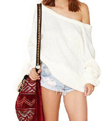 White V-Back Sweater – Dream Closet Couture