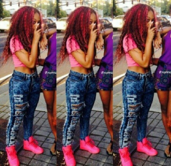 jeans omg girlz cute beautiful bahja cropped ripped acid wash denim