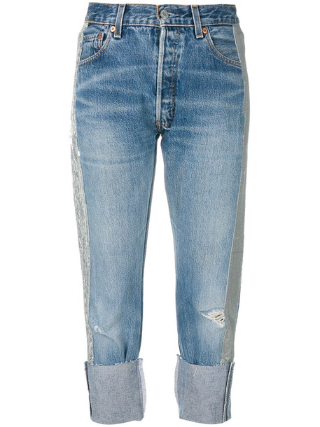 KENDALL+KYLIE jeans cropped jeans cropped women cotton blue