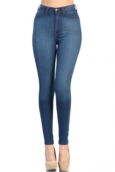 LoveMelrose.com From Harry & Molly | High Waist Blue Jean
