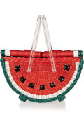 Charlotte Olympia Watermelon Basket straw tote – 50% at THE OUTNET.COM