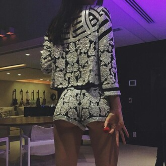 jumpsuit romper nails party outfits jacket shorts