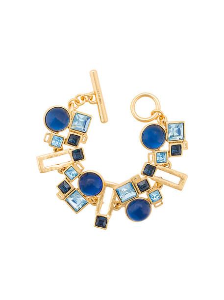 women geometric pendant blue jewels