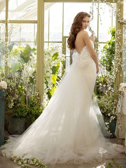 dress tulle white strapless wedding dresses
