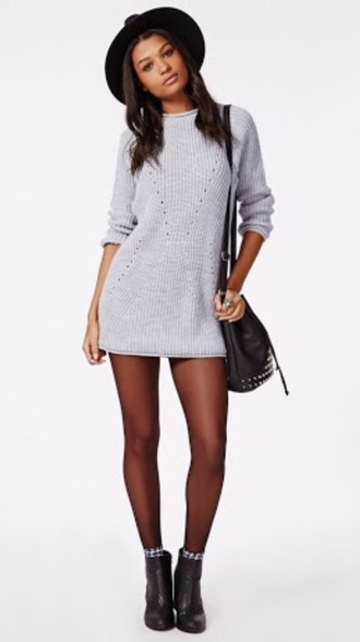 dress grey knit knitted knitteddress greyknit jumper winter outfits cheap wintewear winter clothes warm cardigan