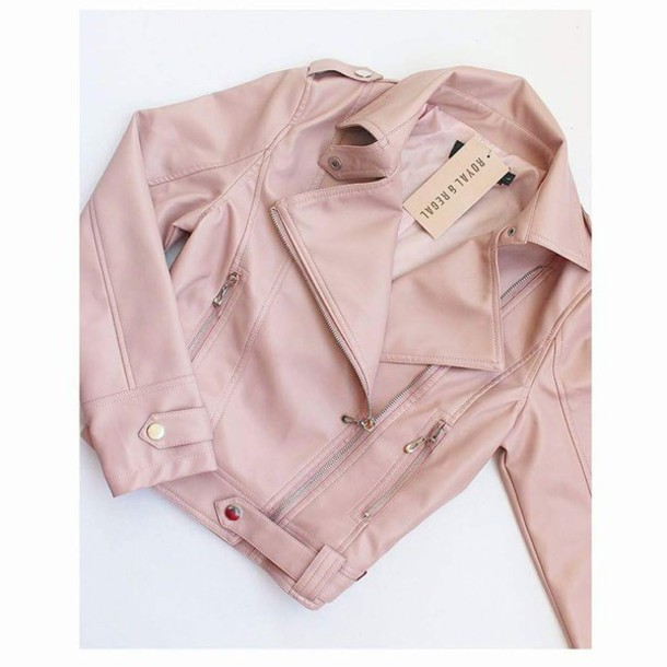 Pastel Pink Leather Jacket - Shop for Pastel Pink Leather Jacket ...