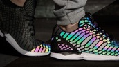 shoes,fade,adidas,rainbow,iridescent,multi color to black,adidas shoes