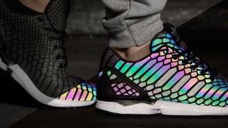shoes fade adidas rainbow iridescent