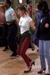 pants,red,plaid,rachel green,friends TV show