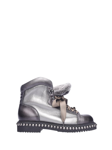 boot metal silver shoes