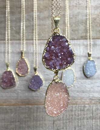 jewels jewelry necklace druzy druzy necklace boho boho chic boho jewelry accessories