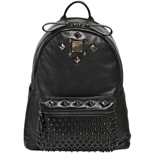 MCM Studded Stark Special Medium Backpack - Polyvore