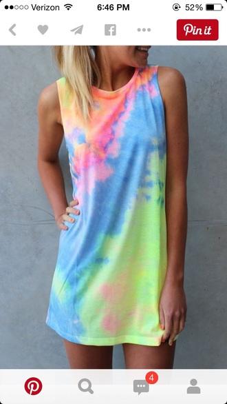 dress t-shirt tshirt dress tie dye