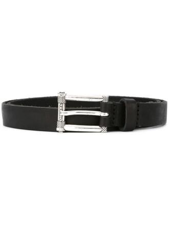 women belt leather black