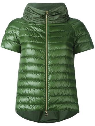 jacket puffer jacket short women green
