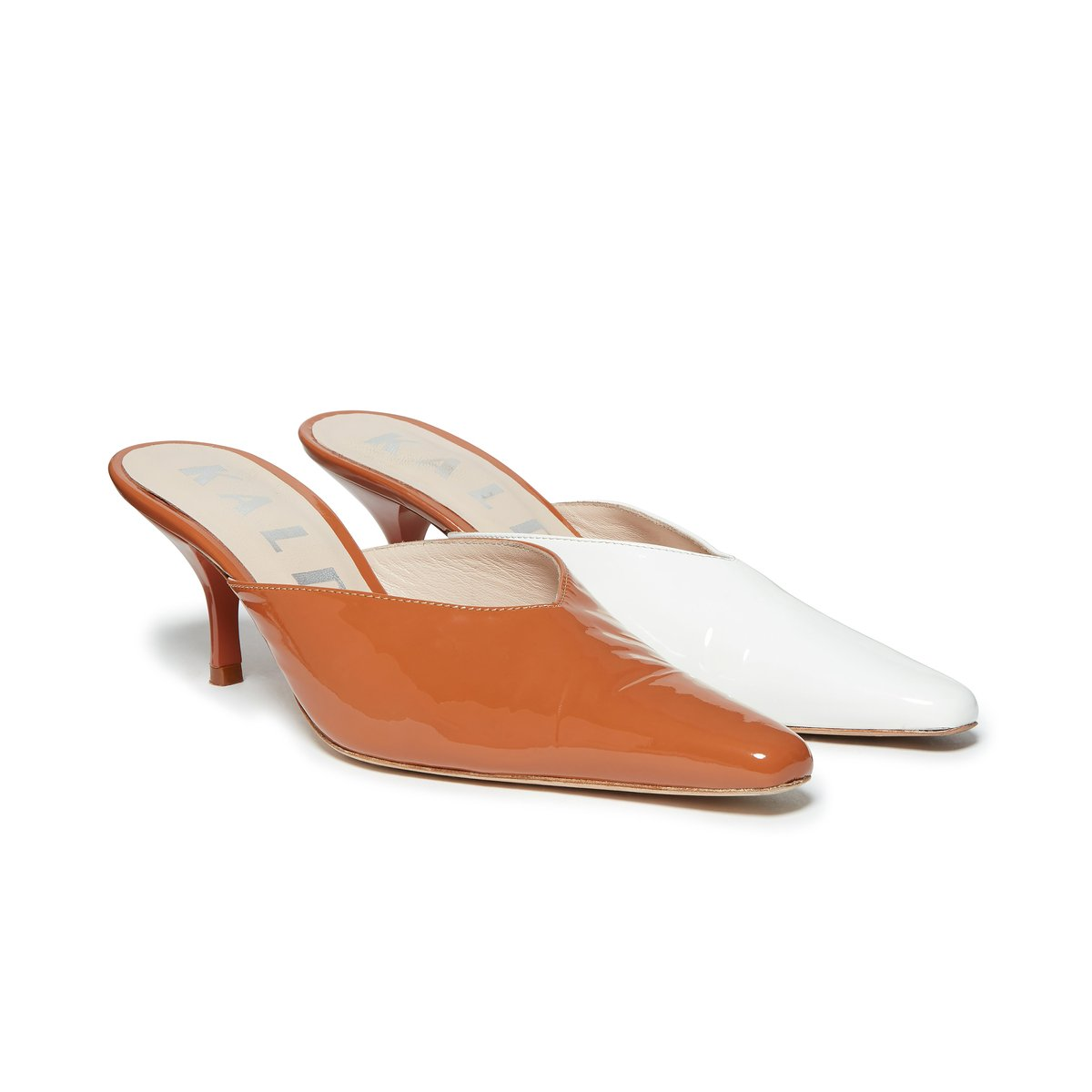 Alba Mismatch Mule Brown and White