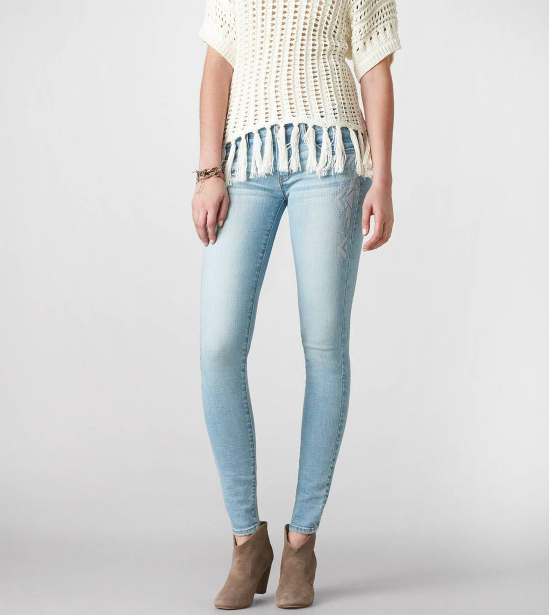 14dc5cb872dd1 Embroidered Jegging Ankle | American Eagle Outfitters