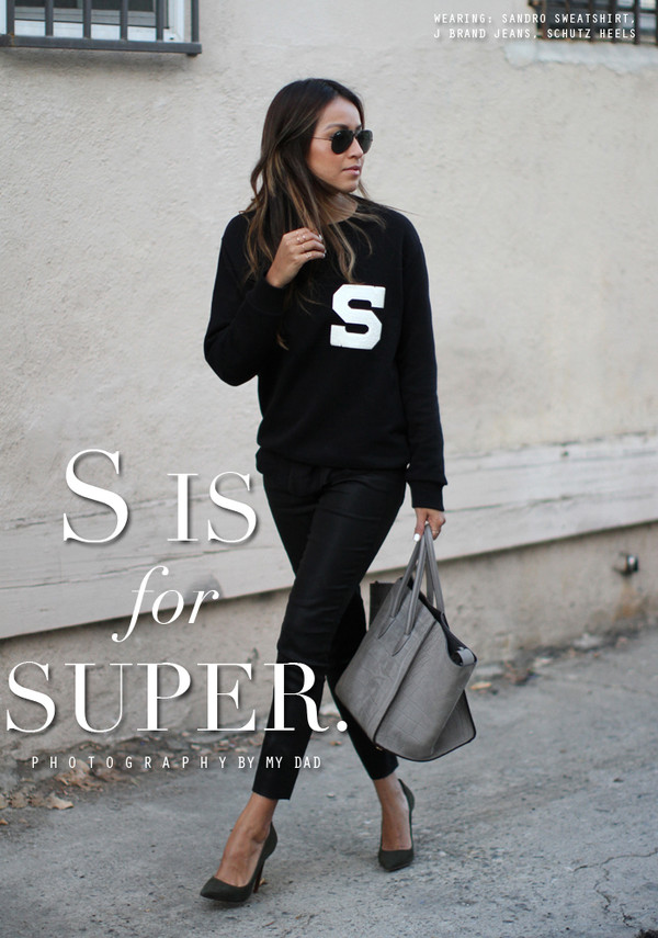 sincerely jules sweater jeans shoes sunglasses bag