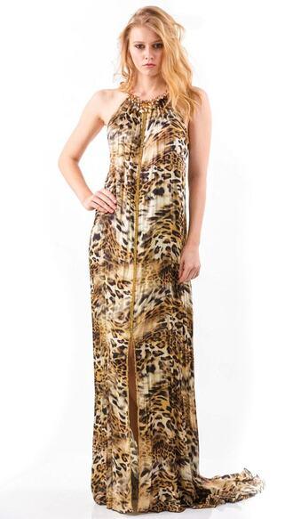 dress baccio baccio couture brown print resort wear silk dresses bikiniluxe